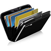 GreatShield RFID Blocking Wallet [8 Slots | Aluminum] Portable Travel Identity ID/Credit Card Safe Protection Card Holder Hard Case for Men and Women