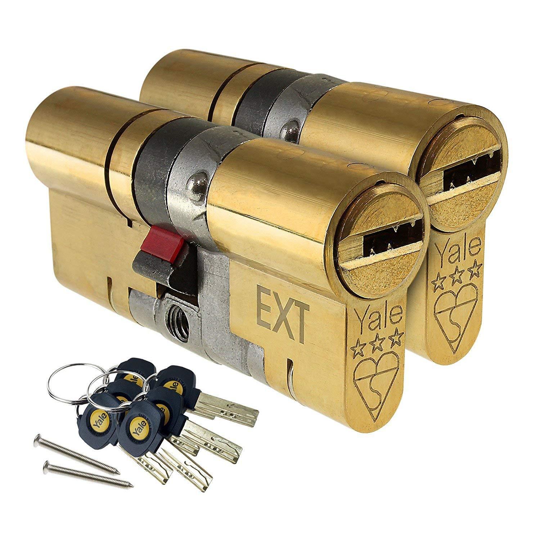 ERA Fortress 3 Star Keyed Alike Pairs Anti Snap Euro Cylinder  Door Lock Upvc