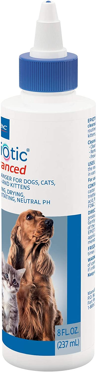 Virbac Epi-Otic Advanced Pet Ear Cleaner (8 Oz), Package May Vary : Pet Supplies