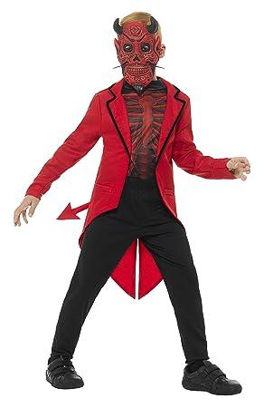 SmiffyS 45122M Disfraz De Niño Del Día De Muertos Deluxe, Rojo, M ...