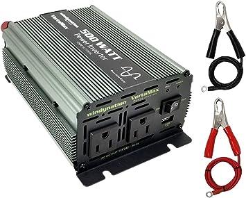 ON//OFF Remote VertaMax 1000 Watt Pure Sine Wave Power Inverter Fuse Cables