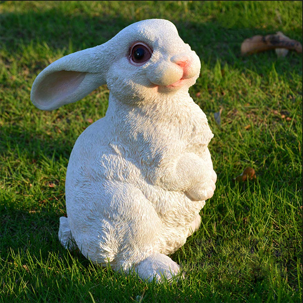 Danmu 1pc of Polyresin Rabbit Statue for Garden Home Decoration (Style 5)