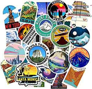 Luggage Stickers for Trendy Teen Girls(Big 100 Pack),Outdoor Stickers for Traveling,Water Bottle,Laptop,Skateboard,Phone,Guitar,Skateboard