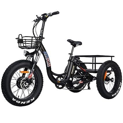 3861002cb5d Addmotor Electric Tricycle Three Wheel 500W Electric Trike 20 Inch Fat Tire  Ebike 48V 10.4Ah