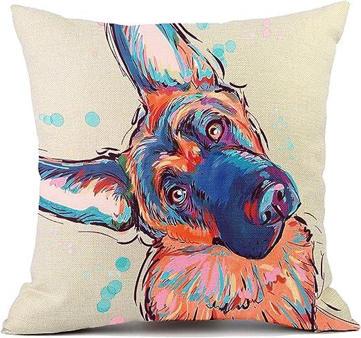 "Beautiful Handmade German Shepherd Dog Accent Throw Pillow 14"" x 10"""