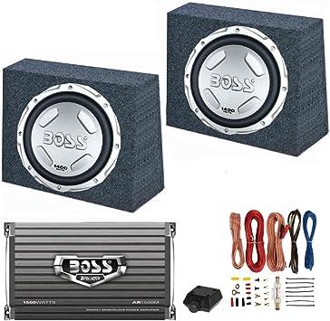 QPower 12 Enclosure Boss Audio 12 1400W Subwoofer 1500W Amplifier w Amp Kit