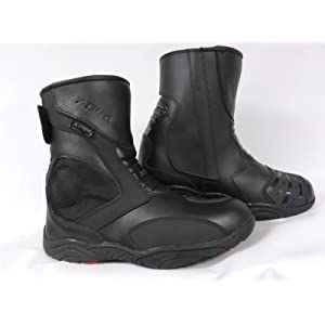 UK 7//EU 41 Nextek Heavy Duty Genuine Leather Motorbike Armoured Boots Long High Ankle Protection Shoes with Anti Slip Rubber Sole Black