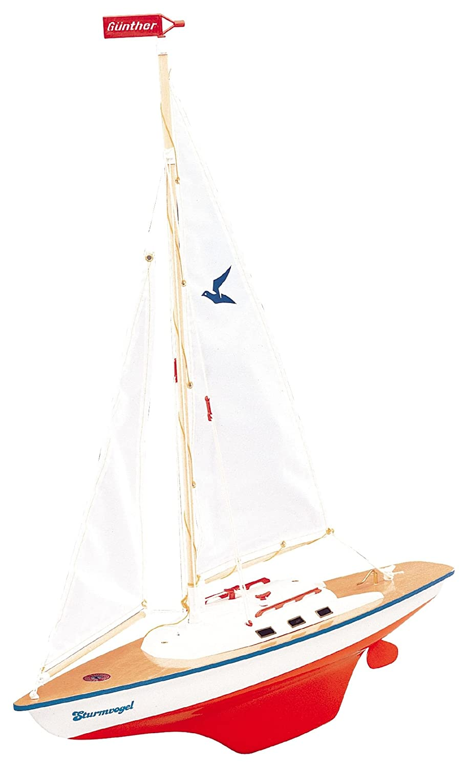 Guenther 1810 55 cm Sturmvogel Sailing Boat Model: Amazon.co.uk: Toys &  Games