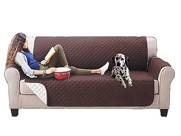 Nice Cook - Funda de protección para sofá reversible, antiadherente, impermeable, resistente al