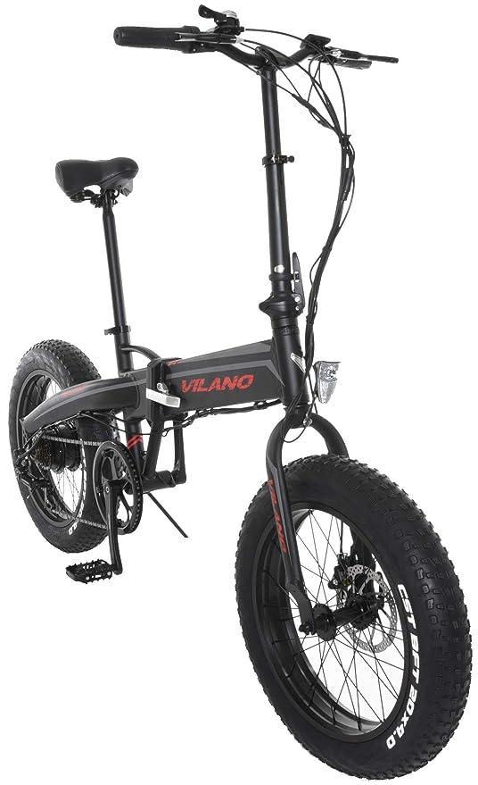 Vilano neutrón eléctrica grasa bicicleta plegable, ruedas de 20 pulgadas: Amazon.es: Deportes y aire libre
