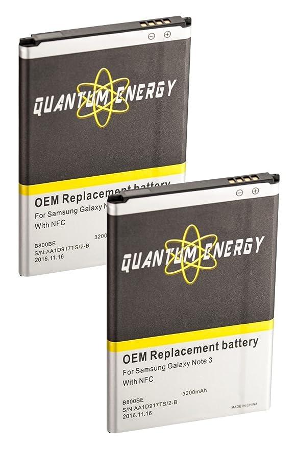 Amazon.com: QUANTUM ENERGY 2x Baterías 3,200 mAh NFC + ...