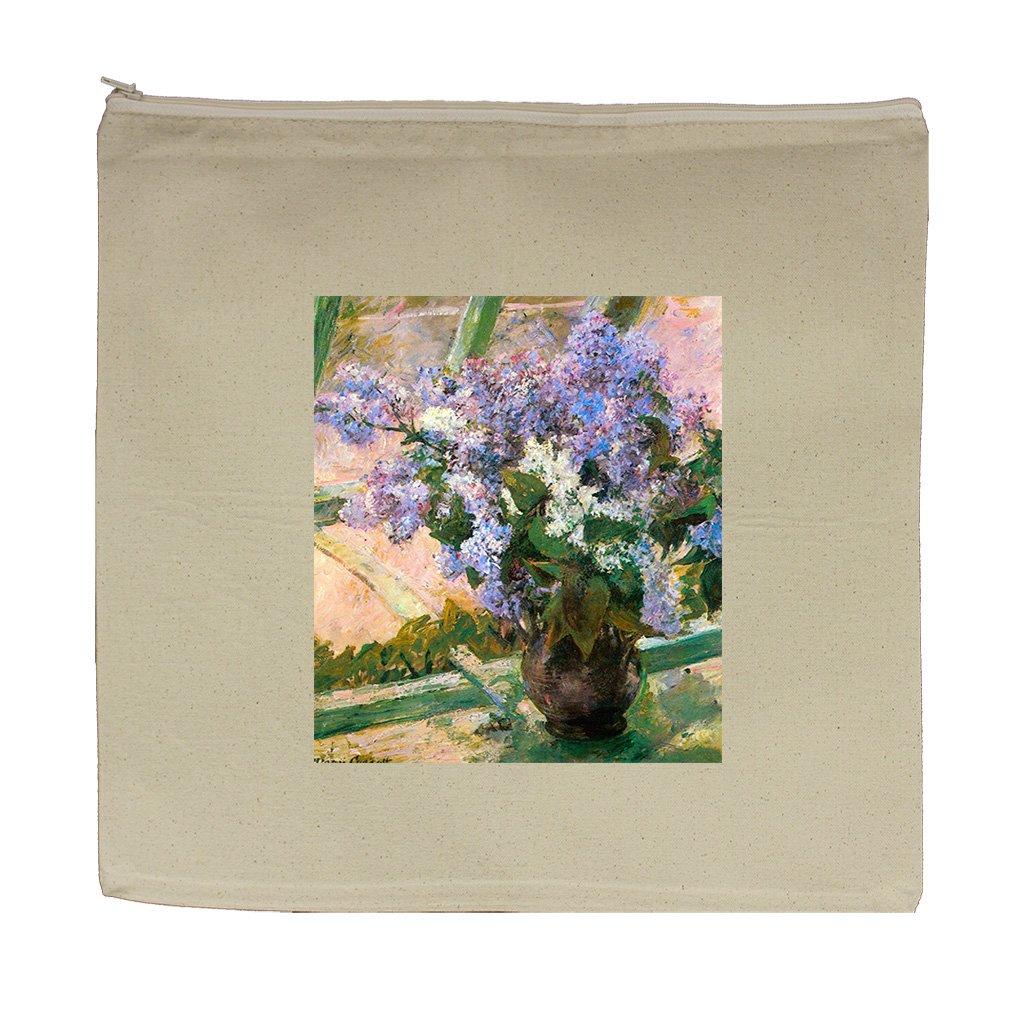 Flowers In The Window #1 (Cassatt) Canvas Zipper Tote Bag Makeup Bag