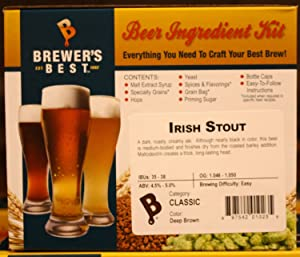 Brewer's Best - Home Brew Beer Ingredient Kit (5 gallon), (Irish Stout)