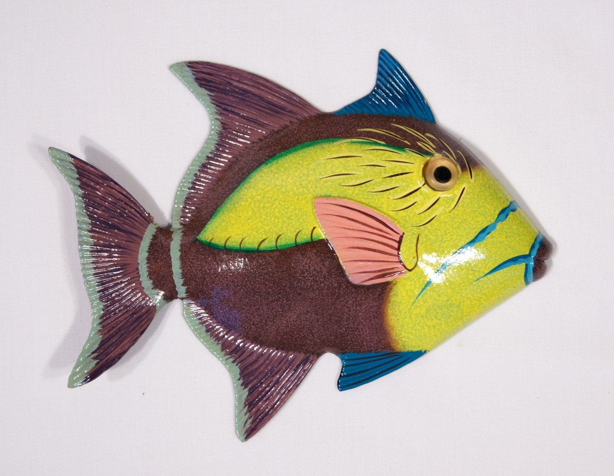 Amazon.com: Handpainted L-B Tropical Fish Replica Wall Mount Decor ...