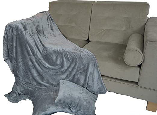 Waffle or Sparkle Faux Fur Soft Touch Sofa Bed Throw Blanket Double King Sizes