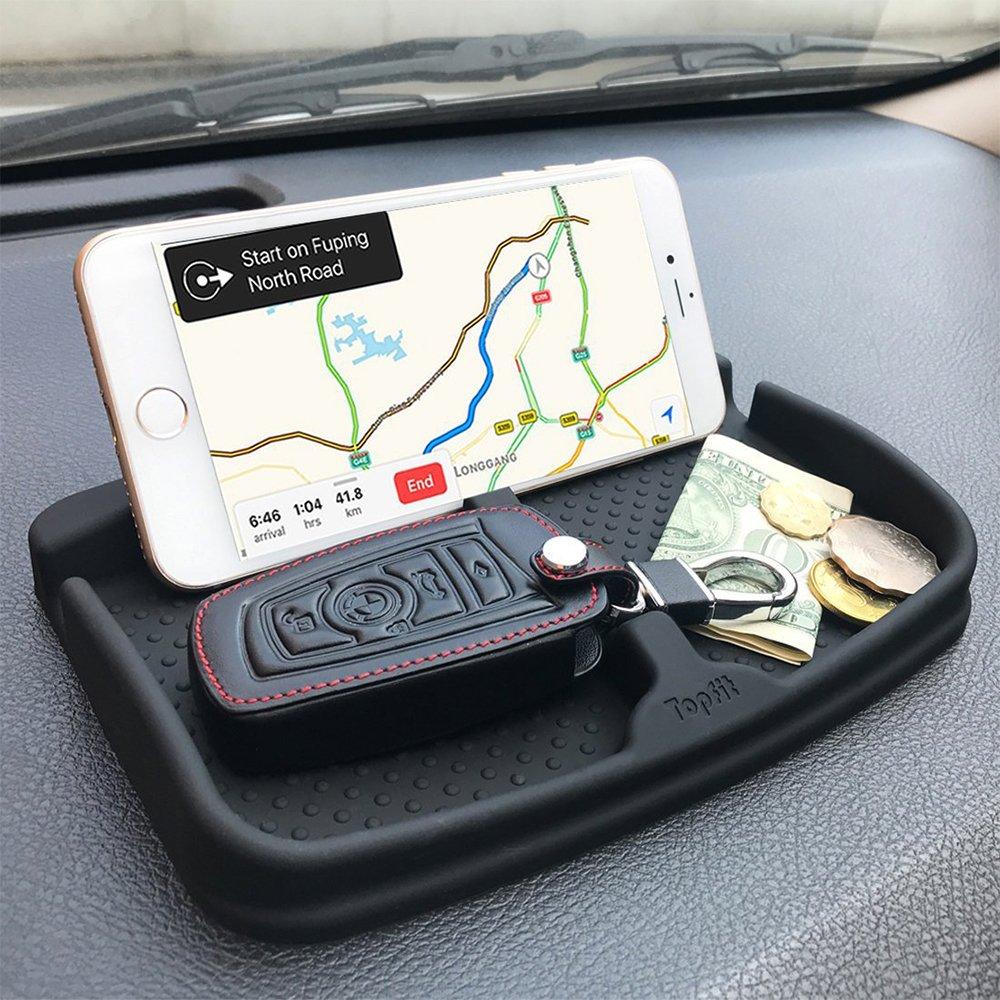 8//7 Plus Samsung Galaxy Note 8 S9 S8 Plus oder GPS-Ger/äte Sonnenbrillen Topfit Anti-Rutsch-Handy-Pad Universal-Smartphone-Dashboard Nicht-Rutsch-Silikon-Schutt Gel-Mat-Halterung f/ür iPhone X