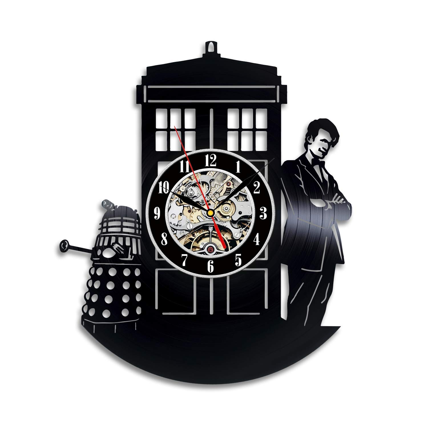 Doctoe Who Vinyl Record Clock, The Doctor Wall Decor, Daleks Handmade Home Decor, Cybermen Vinyl Wall Clock, Gifts for Friend
