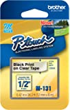 "Brother P-touch ~1/2"" (0.47"") Black on Clear Tape - 26.2 ft. (8m)"