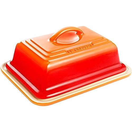 Le Creuset Stoneware Butter Dish Volcanic Orange