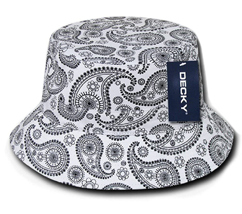 249bd89b4c6 DECKY Paisley Bandana Print 100% Cotton Bucket Hat at Amazon Men s Clothing  store