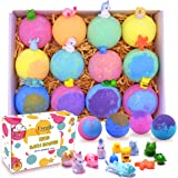 Kids Bath Bombs with Surprise Toys Inside - Bubble Bath Fizzies Vegan Essential Oil Spa Bath Fizz Balls Kit for Girls…