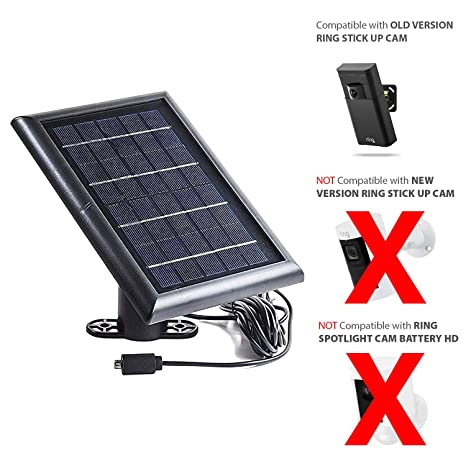 Amazon com : Solar Panel for Ring Stick Up Cam and Reolink