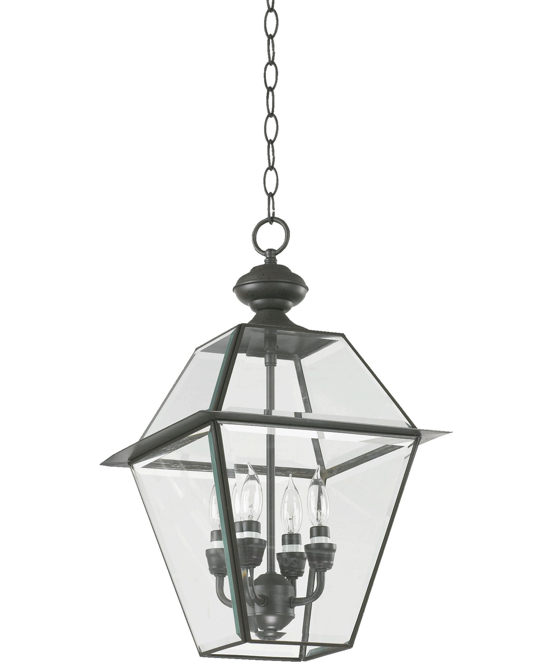 Quorum International 728-4-36 Duvall 4 Light Outdoor Hanging Lantern in Bronze by Quorum