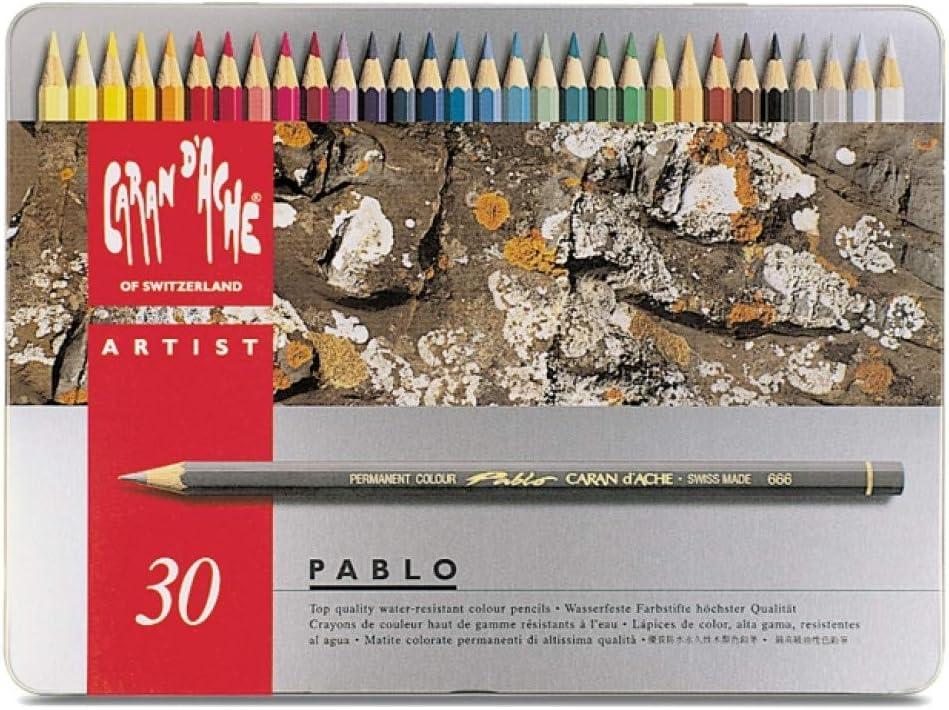 Caran d-Ache Pablo 30 - Lápiz de color Gris, Multi