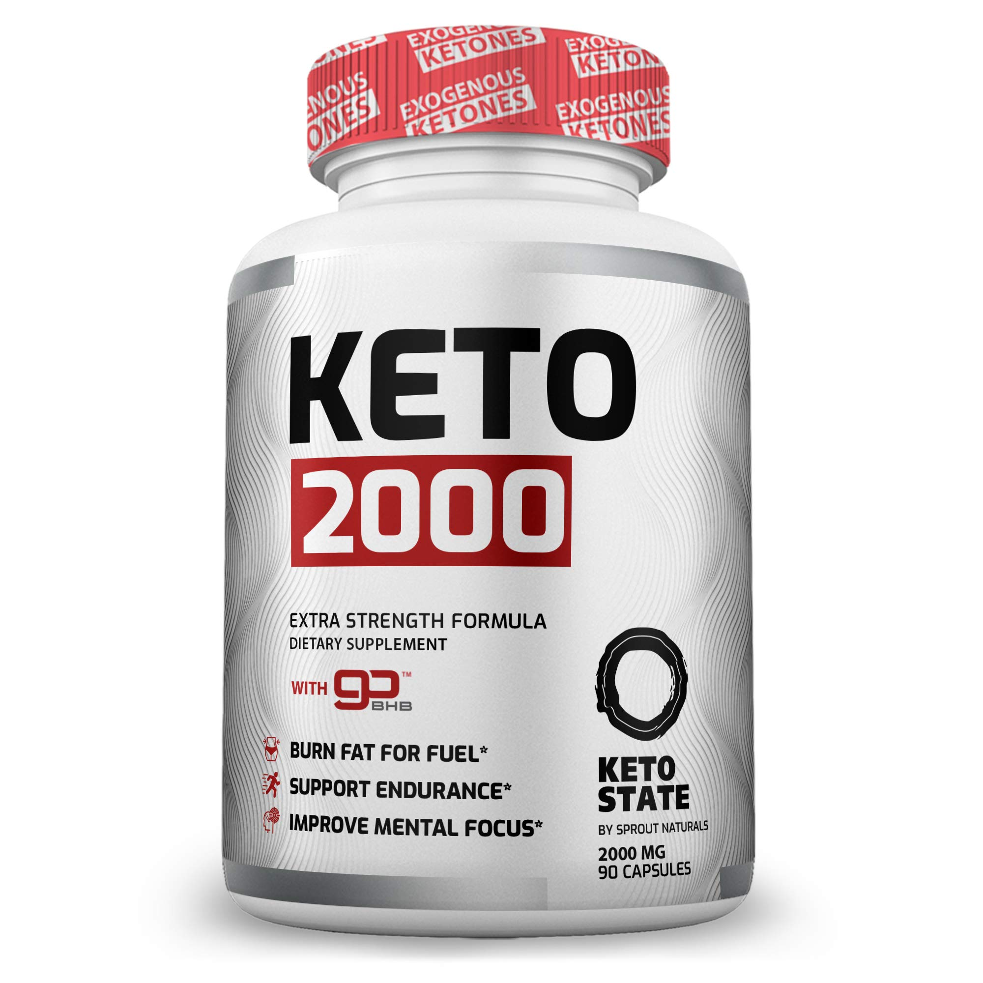 Keto Pills - Advanced Keto Diet Pills(90 ct) with Patented GoBHB Exogenous Ketones - Max Strength Formula by Sprout Naturals