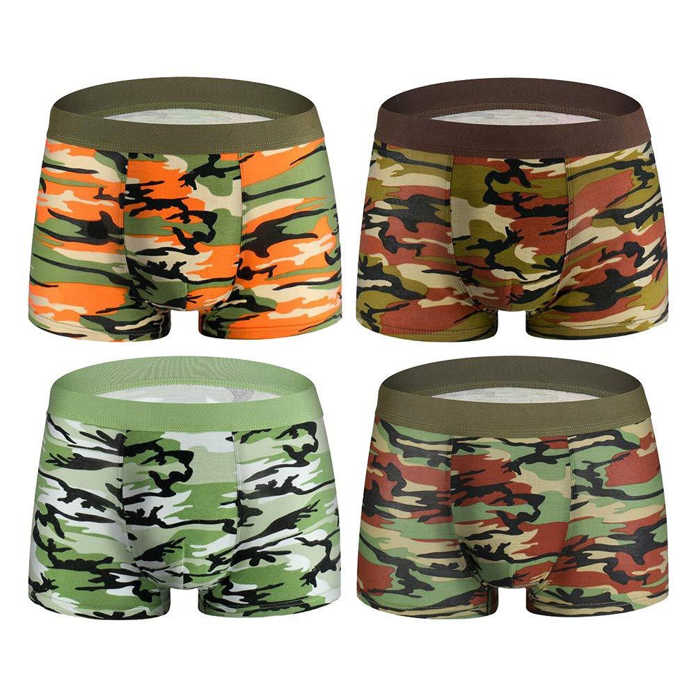 special promotion unique design detailing Dempuss Men's Boxer Briefs, 4PC Elastic Camouflage Knickers ...