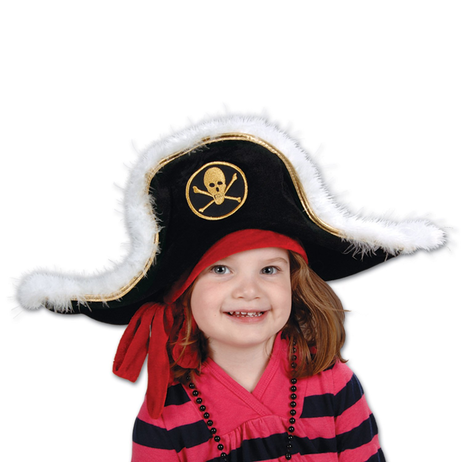 Amazon.com  Plush Pirate Captain s Hat - Child Party Accessory (1 count)  (1 Pkg)  Kitchen   Dining 3396c5c6f565