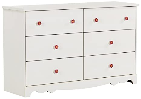 Amazon.com: South Shore Lilly Rose 6 Cajón Doble Dresser ...