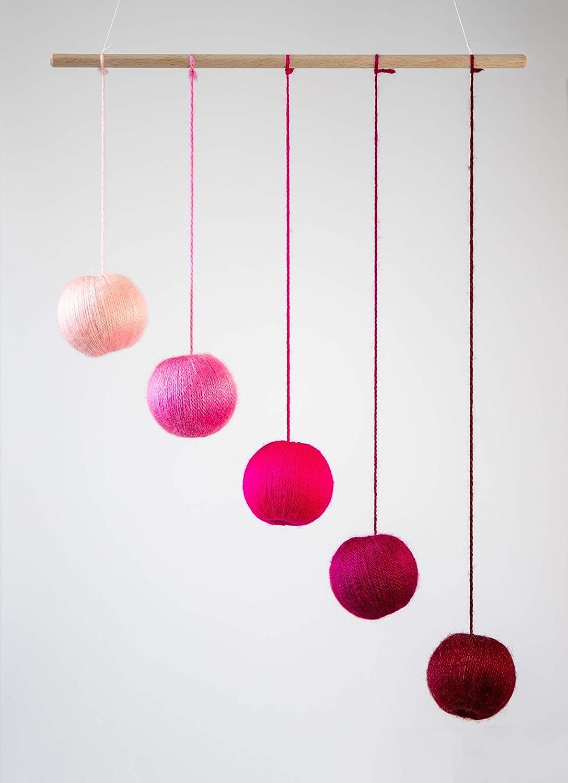 Pink Gobbi Montessori inspired mobiles