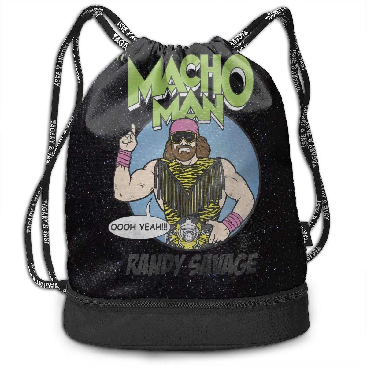 Xdfcvmalkwrj Unisex Man Womens Macho Man Durable Beam Backpack Gift