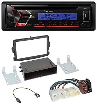Pioneer s100ubb CD MP3 1DIN USB AUX Radio de coche para Dacia Logan Sandero Opel Vivaro: Amazon.es: Electrónica
