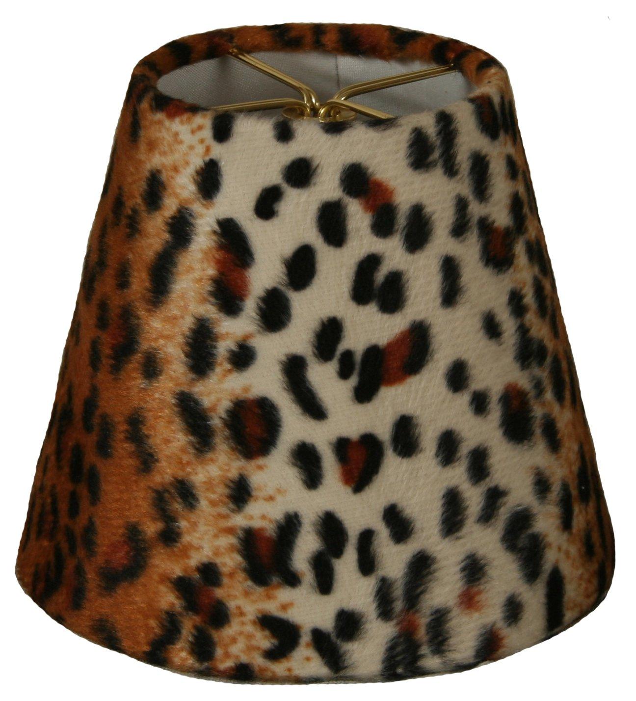 Royal Designs CS-958-5 Black & Brown Small Leopard Print Chandelier Lamp Shade, Black/Brown