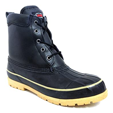 7c5971894 G4U-FSI BK-31S Men's Duck Boots Leather Thermolite Insulated Waterproof  Hiking Snow Warm