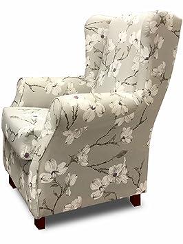 SUENOSZZZ - Sillon Relax, Sillon orejero para Lactancia Irene. Tejido HP Izumi Floral. Butaca para Dormitorio, Salon o habitacion de Bebe | Sillon ...