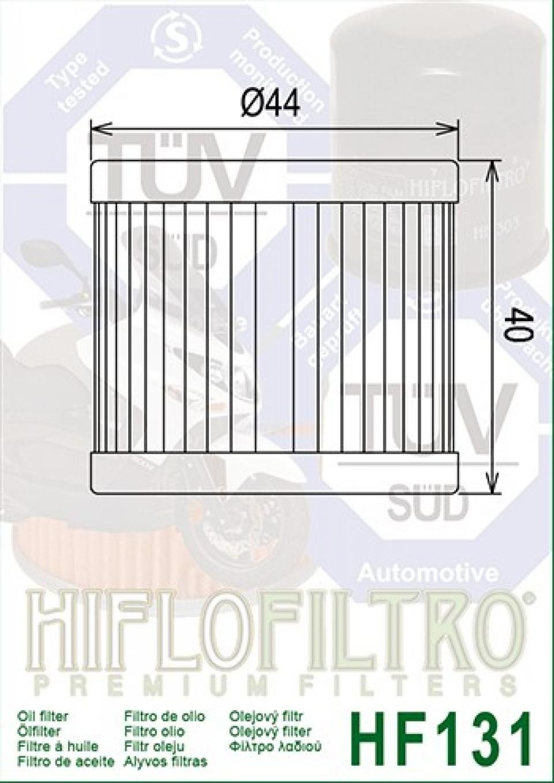 Filtro de aceite Hiflo para moto Mash 125 Seventy 2012-2015