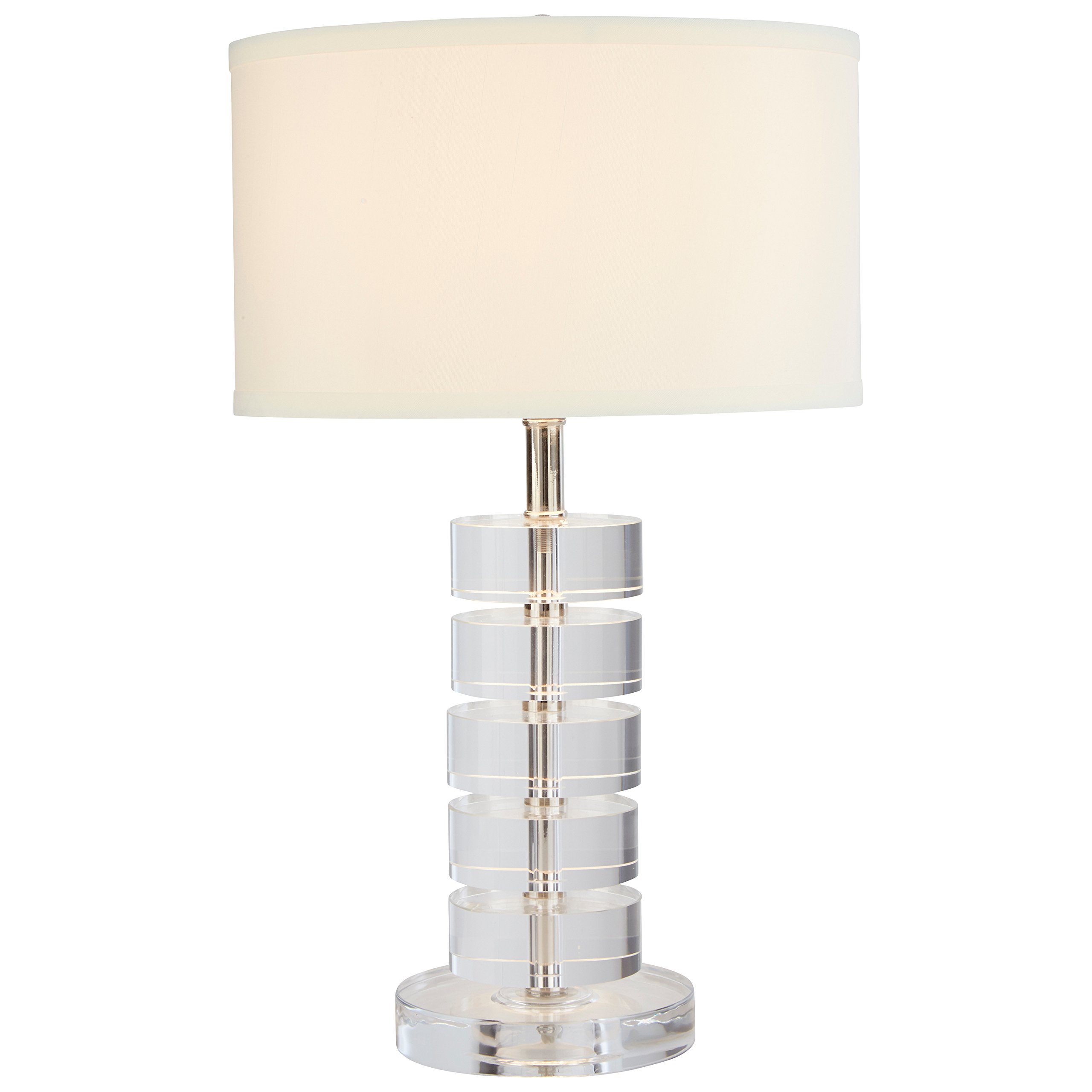 Stone & Beam Modern Crystal Disc Table Lamp, 19.5''H, With Bulb, Shade by Stone & Beam