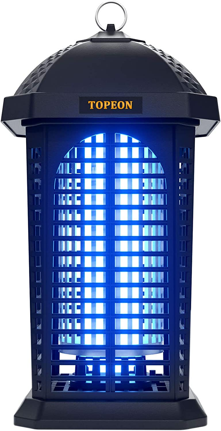 Bug Zapper- Electronic Flying Insect Pest Trap & Killer, Powerful 4200v Electric Mosquito Zappers Insect Zapper Lamp with Hook for Indoor & Outdoor(Waterproof)