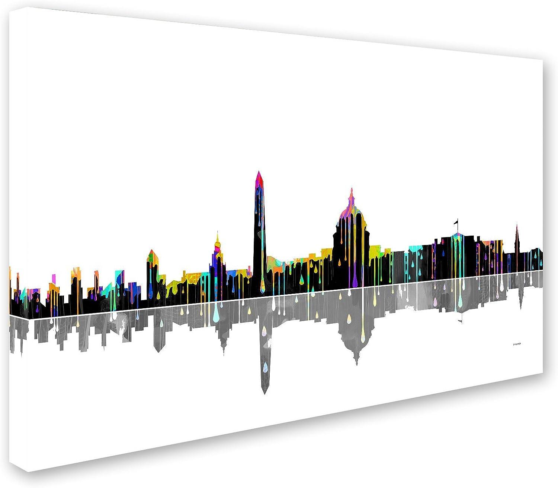 Washington Dc Skyline Ii Wall Decor By Marlene Watson 30 By 47 Canvas Wall Art Posters Prints