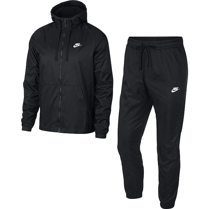 fashion style presentazione super economico Nike M NSW Ce TRK HD Wvn, Tuta Uomo, Black/White, XS: Amazon ...