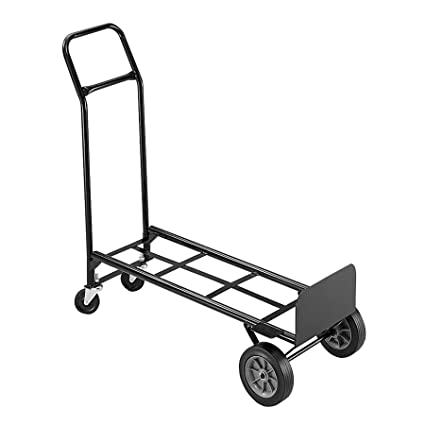 Safco Products 4070 Tuff Truck Convertible Utility Hand Truck, Black