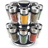 "Cole & Mason H121808U 16 Jar Herb & Spice Carousel, Medium, Silver ,10"""
