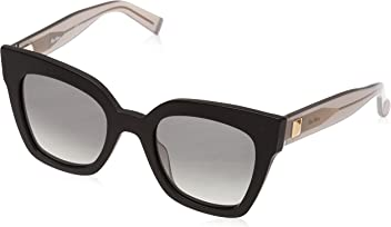Max Mara Womens Mm Prism Iv Square Sunglasses BLACK DARK GREY 50 mm