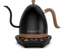Brewista   Artisan 1.0L Electric Gooseneck Kettle   Electric Water Kettle For Pour Over Coffee (Matte Black)