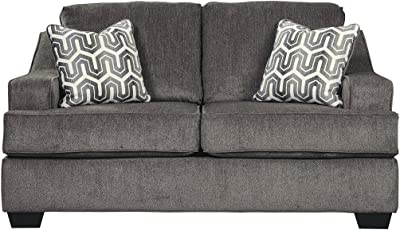 Ashley Furniture Signature Design   Gilmer Chenille Upholstered Loveseat  W/Accent Pillows   Contemporary