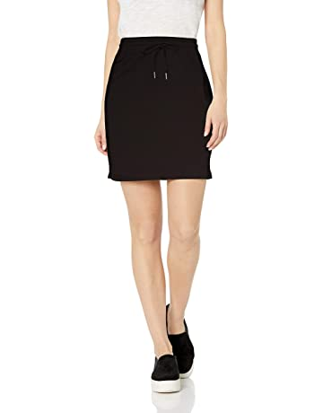 dd22f5e99a Daily Ritual Women's Terry Cotton and Modal Sweatshirt Skirt