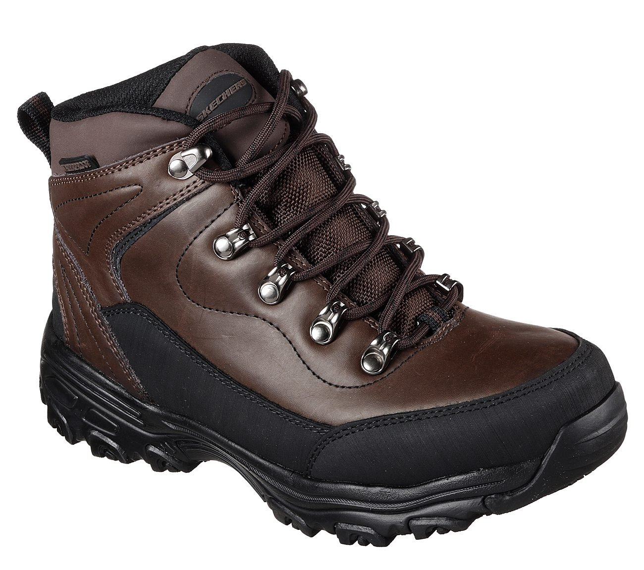 Skechers Work D'Lites SR Chitina WP Womens Slip Resistant Boots B077G57CTR 10 B(M) US|Dark Brown